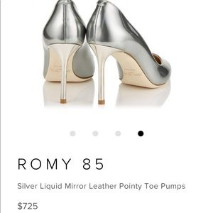 44288a8dd90a Jimmy Choo Shoes - ROMY 85 Silver Liquid Jimmy choo Pumps